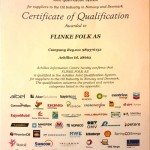 Achilles JQS Certification for Flinke Folk / WellOffice - 2013/2014